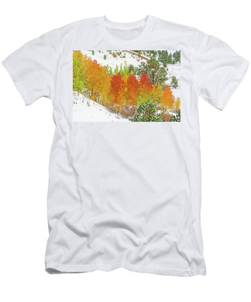 Our Winter Begins Around Mid October.  Men's T-Shirt (Athletic Fit)