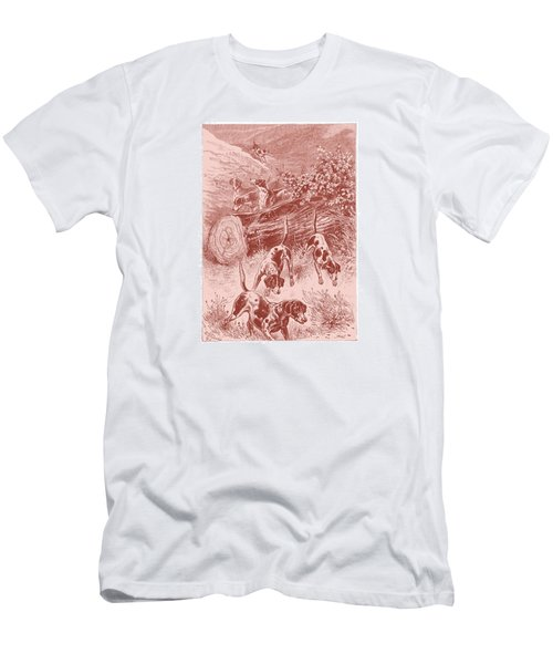 Men's T-Shirt (Slim Fit) featuring the drawing Out Foxing by David Davies