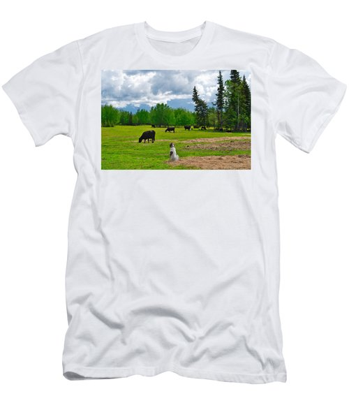Out In The Pasture Men's T-Shirt (Athletic Fit)