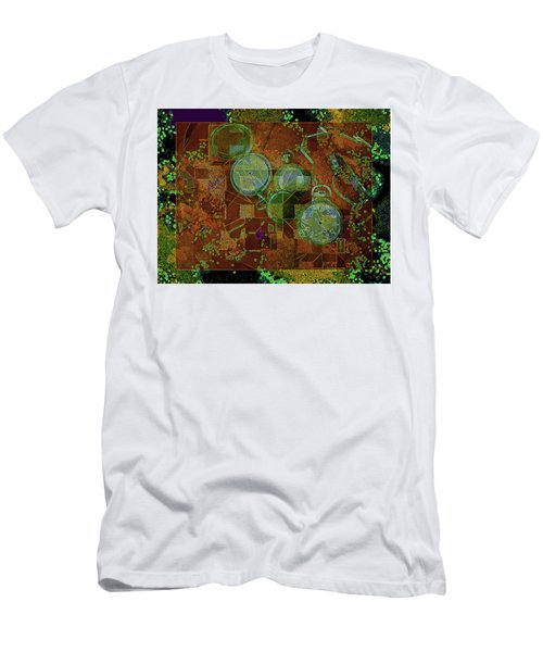 Men's T-Shirt (Athletic Fit) featuring the mixed media Out Of Time 5  by Lynda Lehmann