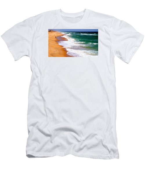Outer Banks Beach North Carolina Men's T-Shirt (Athletic Fit)