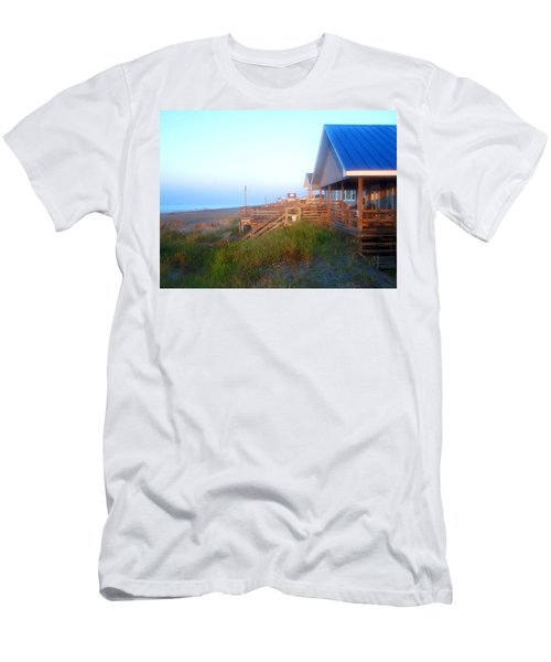 Men's T-Shirt (Slim Fit) featuring the photograph Outerbanks Sunrise At The Beach by Sandi OReilly