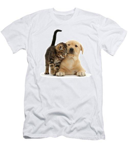 Over Friendly Kitten Men's T-Shirt (Athletic Fit)