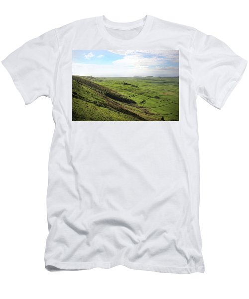 Over The Rim On Terceira Island, The Azores Men's T-Shirt (Slim Fit) by Kelly Hazel