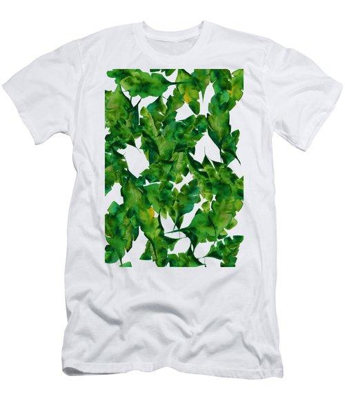 Overlapping Leaves Men's T-Shirt (Slim Fit) by Cortney Herron