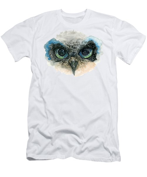 Owl Eyes Men's T-Shirt (Athletic Fit)
