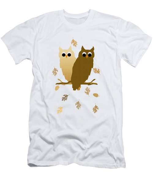 Owl Pattern Men's T-Shirt (Athletic Fit)