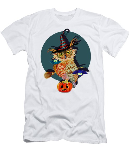 Owl Scary Men's T-Shirt (Athletic Fit)