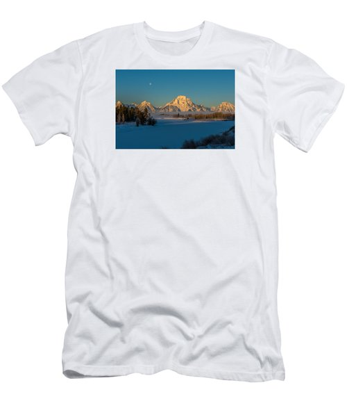 Oxbow Bend In Late Winter Men's T-Shirt (Slim Fit) by Yeates Photography