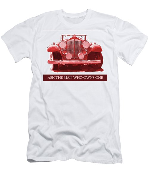 Packard Ask The Man Red Men's T-Shirt (Athletic Fit)