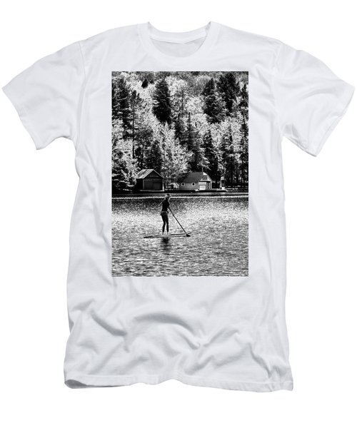 Paddleboarding On Old Forge Pond Men's T-Shirt (Athletic Fit)