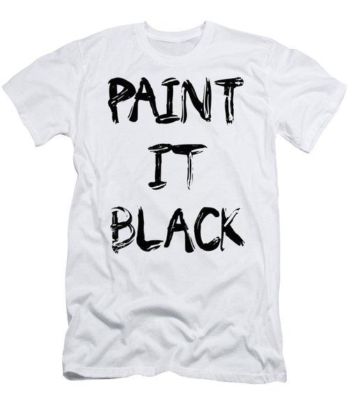 Paint It Black Pop Art Men's T-Shirt (Athletic Fit)