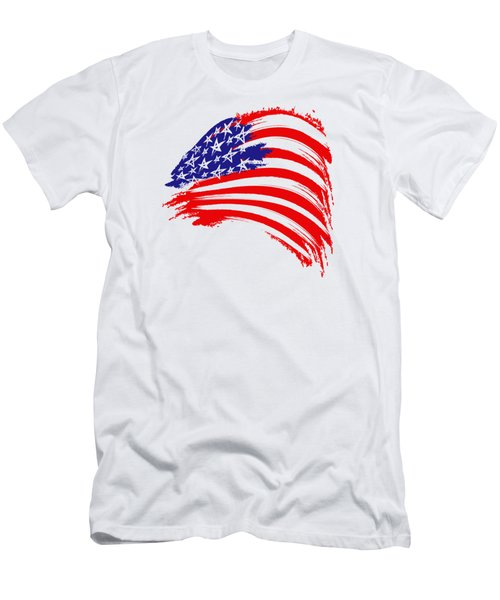Painted American Flag Men's T-Shirt (Athletic Fit)