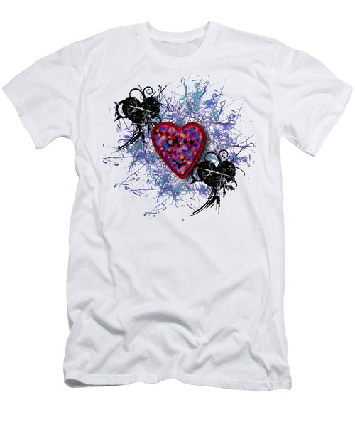 Men's T-Shirt (Slim Fit) featuring the digital art Painted Heart 3 by Christine Perry