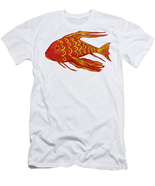 Painting Red Fish Men's T-Shirt (Athletic Fit)