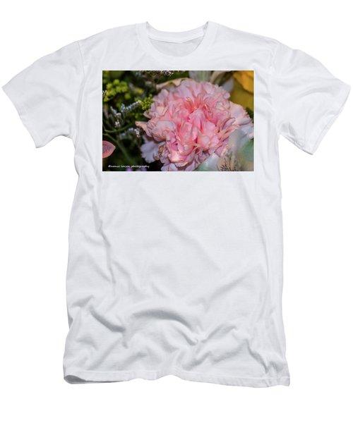 Pale Pink Carnation Men's T-Shirt (Slim Fit) by Nance Larson