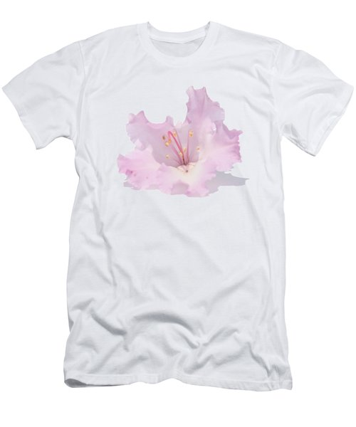 Pale Pink Rhododendron On Transparent Background Men's T-Shirt (Athletic Fit)