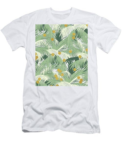 Palm And Gold Men's T-Shirt (Athletic Fit)