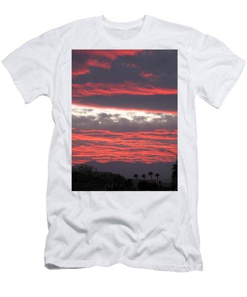Men's T-Shirt (Slim Fit) featuring the photograph Palm Desert Sunset by Phyllis Kaltenbach