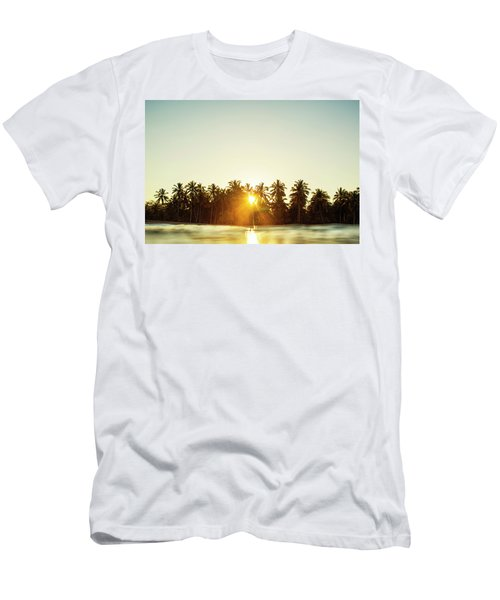Palms And Rays Men's T-Shirt (Athletic Fit)