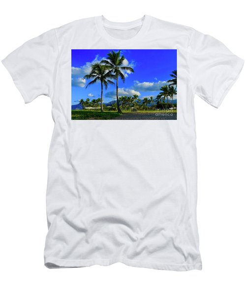Palms In The Morning Men's T-Shirt (Athletic Fit)