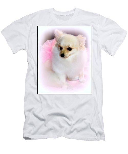 Pampered Pomeranian  Men's T-Shirt (Slim Fit) by Kathy  White