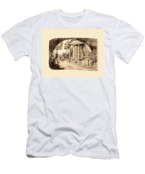 Pan Looking Upon Ruins Men's T-Shirt (Athletic Fit)