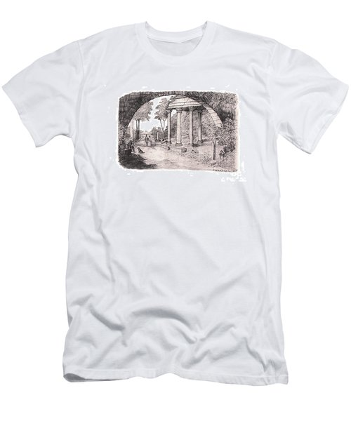 Pan Watching Ruins Of The Past Men's T-Shirt (Athletic Fit)