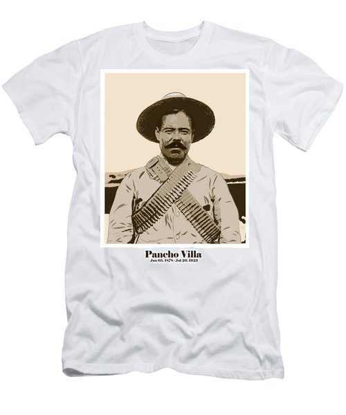 Men's T-Shirt (Athletic Fit) featuring the digital art Pancho Villa by Antonio Romero