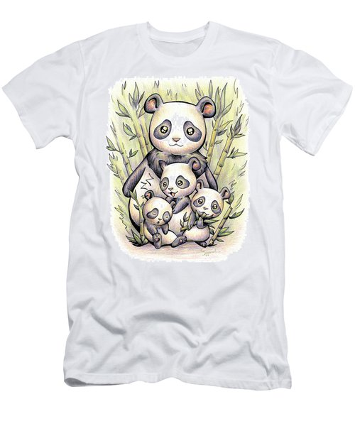Endangered Animal Giant Panda Men's T-Shirt (Athletic Fit)