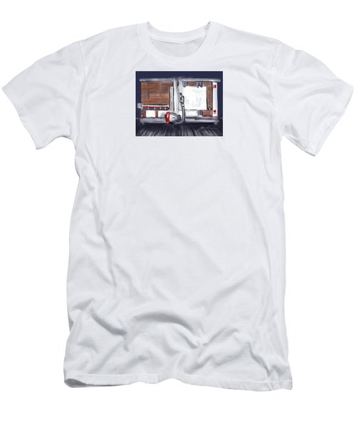 Men's T-Shirt (Slim Fit) featuring the painting Panel Saw by Jean Pacheco Ravinski