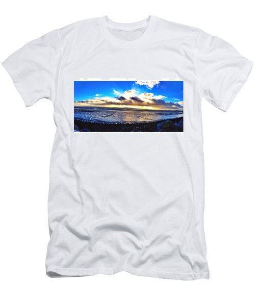 Panorama If College Beach. #beach Men's T-Shirt (Athletic Fit)