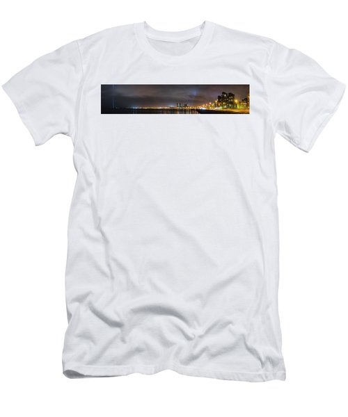 Panorama Of Reykjavik Iceland Men's T-Shirt (Athletic Fit)