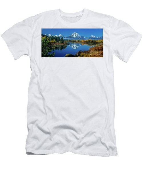 Panorama Oxbow Bend Grand Tetons National Park Wyoming Men's T-Shirt (Athletic Fit)