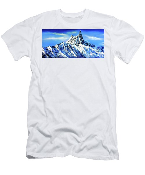 Panoramic View Of Everest Mountain Peak Men's T-Shirt (Athletic Fit)