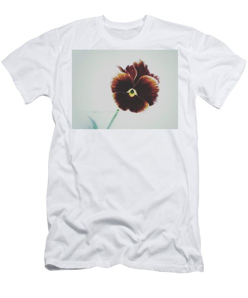 Pansy Face Men's T-Shirt (Slim Fit) by Karen Stahlros