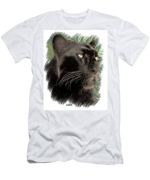 Men's T-Shirt (Athletic Fit) featuring the digital art Panther 8 by Larry Linton