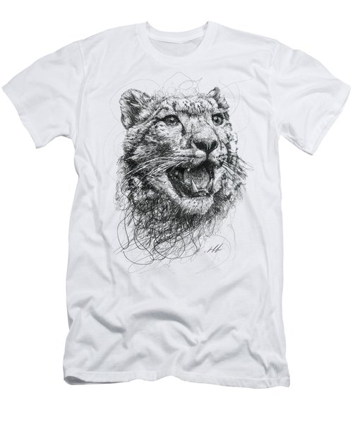 Leopard Men's T-Shirt (Slim Fit) by Michael Volpicelli