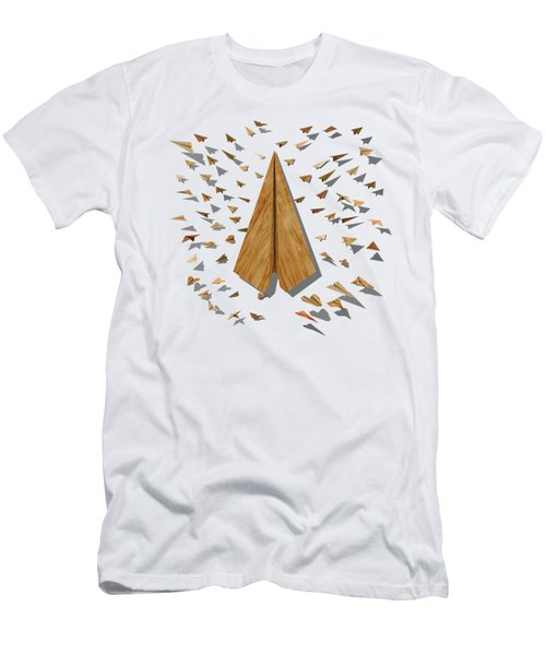 Paper Airplanes Of Wood 10 Men's T-Shirt (Slim Fit) by YoPedro