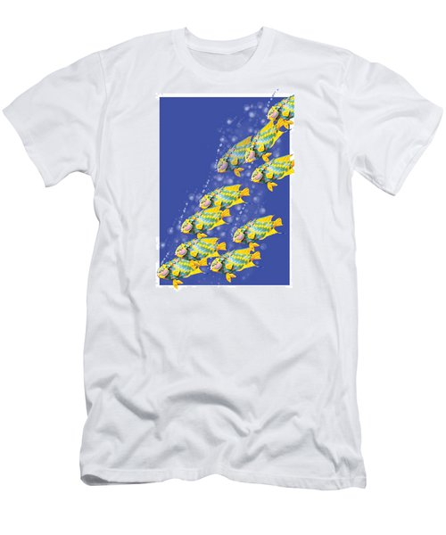 Paper Sculpture Fish Men's T-Shirt (Athletic Fit)