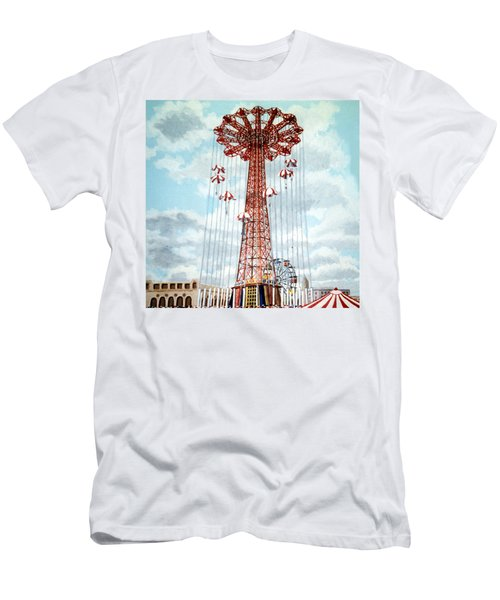 Parachute Jump In Coney Island New York Men's T-Shirt (Athletic Fit)