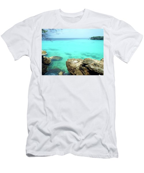Men's T-Shirt (Slim Fit) featuring the photograph Paradise Island, Curacao by Kurt Van Wagner