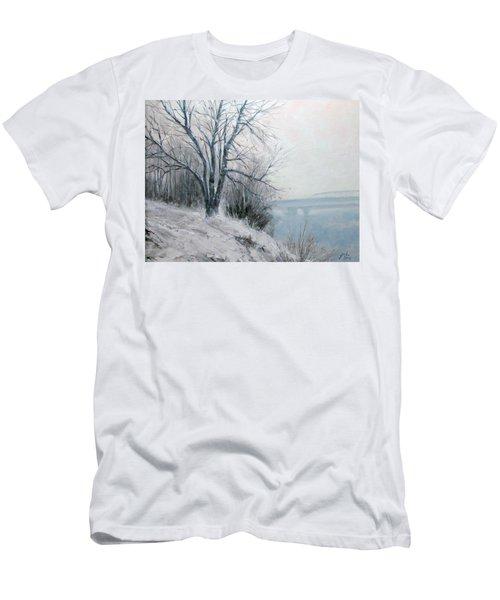 Paradise Point Bridge Winter Men's T-Shirt (Athletic Fit)