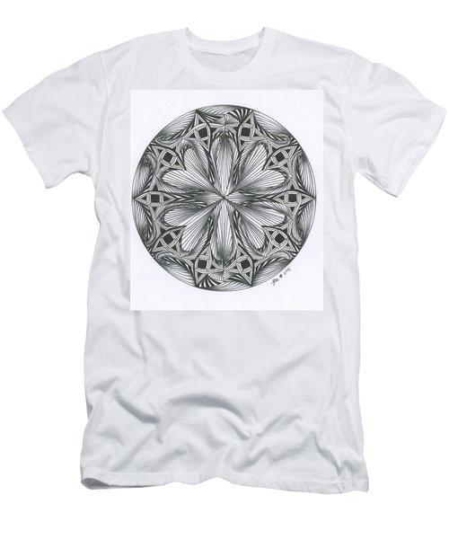 Paradoxical Zendala Men's T-Shirt (Slim Fit) by Jan Steinle