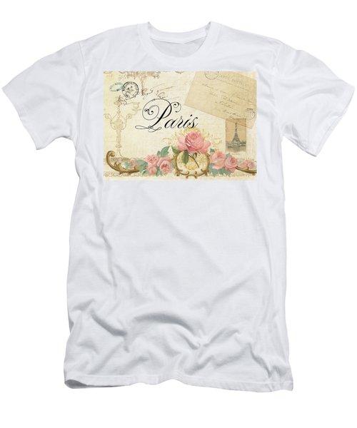 Parchment Paris - Timeless Romance Men's T-Shirt (Athletic Fit)