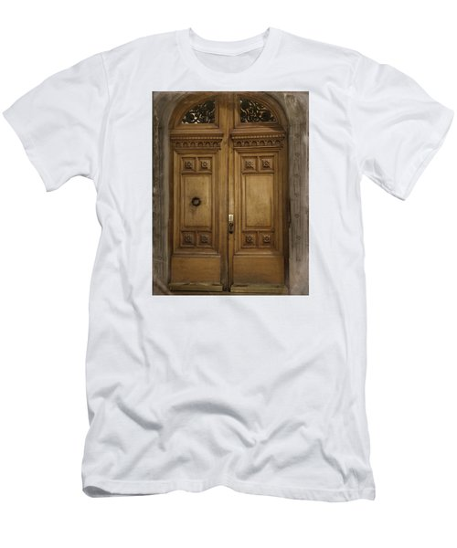 Men's T-Shirt (Slim Fit) featuring the photograph Paris Doorway by Katie Wing Vigil
