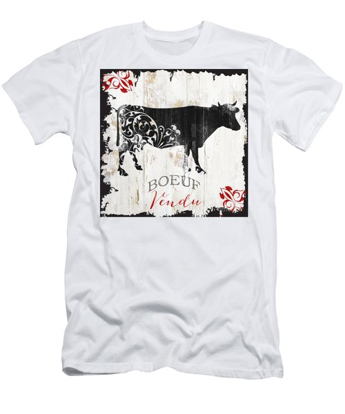 Paris Farm Sign Cow Men's T-Shirt (Athletic Fit)