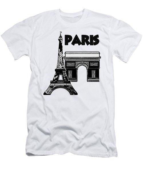 Paris Graphique Men's T-Shirt (Slim Fit) by Pharris Art