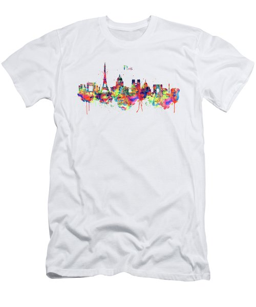 Paris Skyline 2 Men's T-Shirt (Slim Fit) by Marian Voicu