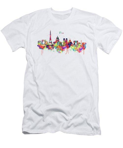 Paris Skyline 2 Men's T-Shirt (Athletic Fit)